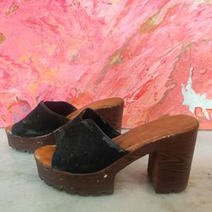 Black Brown Heels (Tibetan Market)